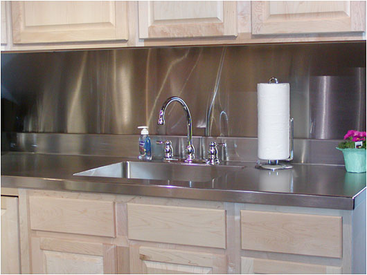 stainless steel sink counter backsplash set off the home