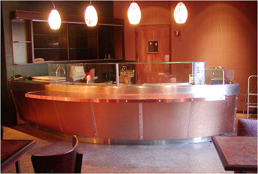 Stylish Copper Sushi Bar Custom Made Counter Tops For